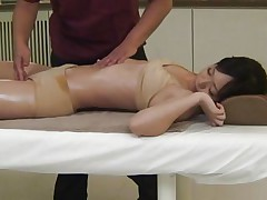 Its really appealing to watch such a beautiful babe taking massage in front of the eyes. Her sexy and attractive body will definitely make your dick. The same is going with this guy and after giving a nice fingering and pussy rubbing he is pushing his big dick in this bitch's pussy right from behind.