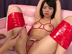 Oriental cutie from this action knows what's what in bounding