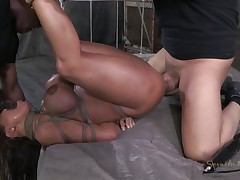 Mom Ava receives some attention from not one but two guys. Well she's getting greater amount then she can handle and the men do what they crave with her sexy body. After they've rubbed her pussy with a vibrator the black one begins to mouth fuck her during the time that the other one takes care of her pussy. She's about to get cum filled!