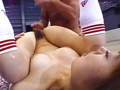 Wild sweetheart needs a tough jock to tame her sexually excited beaver