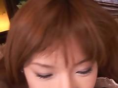 Cute Oriental hottie widens her legs on camera showing off her lingerie