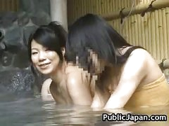 Hot Oriental chick is fucked in the hot spring 5 by PublicJapan