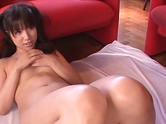 Breasty Asian charms a pulsating pecker with wet engulfing