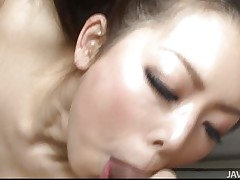 You know a lot of Japanese women are very sexual. Yuki is no exception, loving having 2 dicks to play with instead of just one. They get her cunt wet and she responds by taking turns sucking and licking them both. Then she keeps the one and the other happy by having one fuck her and sucking the other.