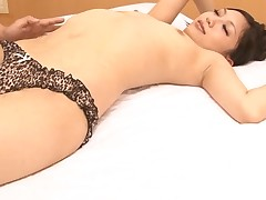 Japanese chick enjoys coarse anal toying and deep pounding